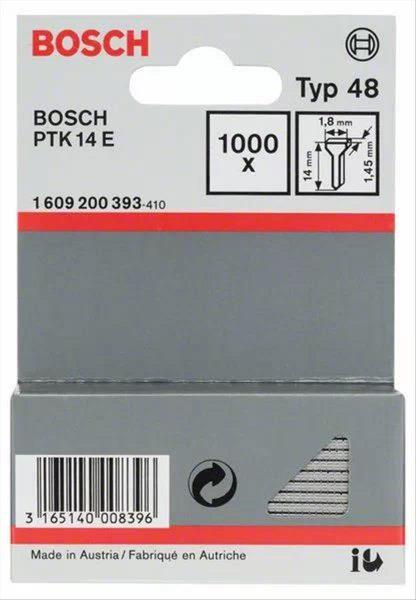 ΚΑΡΦΙΑ ΓΙΑ PTK14E (x1000) BOSCH 1609200393 TYP 48/ 14mm